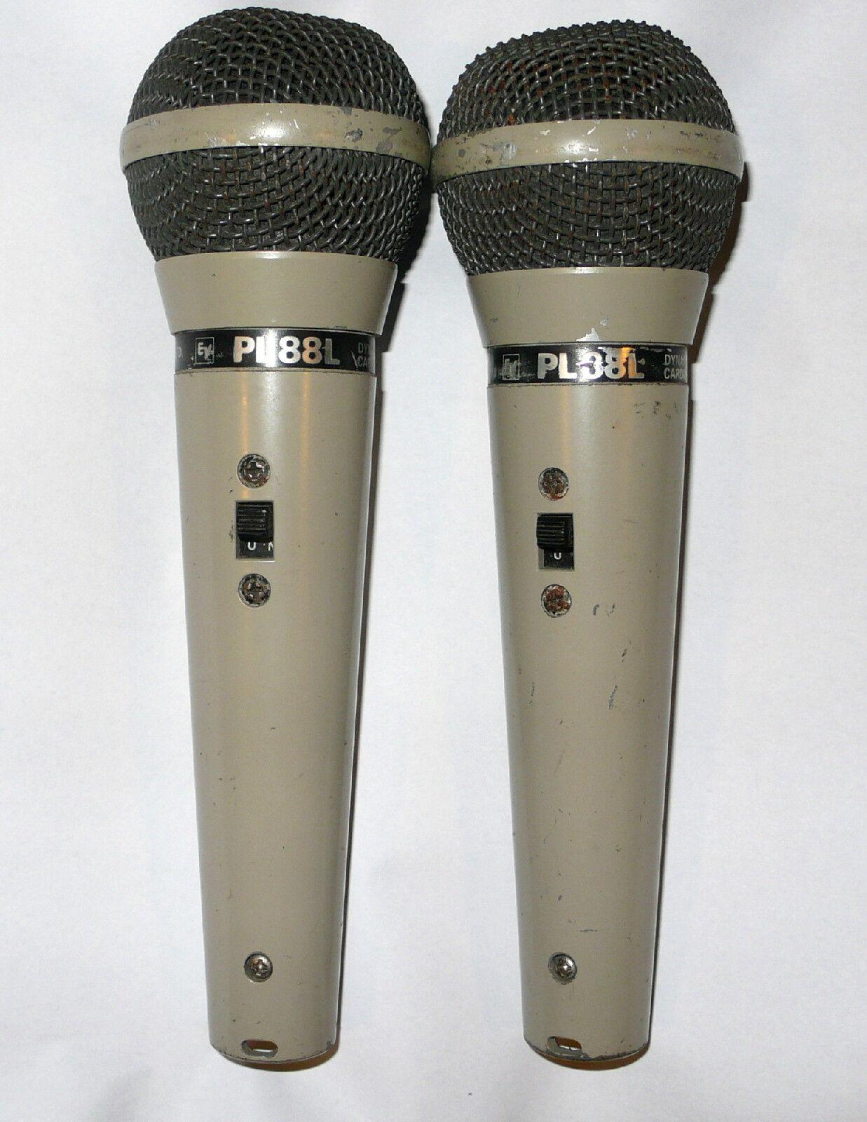 2 MICROS ELECTRO VOICE ( EV ) PL88L    VINTAGE
