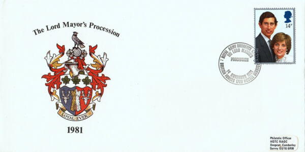 (26773) Gb Cover Lord Mayor's Procession Bfps 1780 14 Novembre 1981