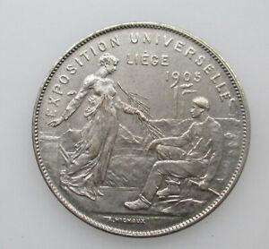 Belgie-Medaille-Exposition-de-Liege-1905-Wereldtentoonstelling-30mm