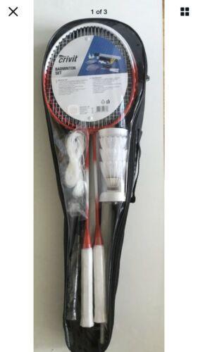 Quality 2 4 player Crivit Badminton set Net Rackets Shuttlecocks Outdoor Sport