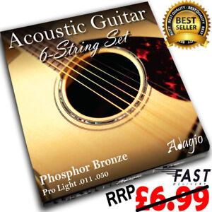3 packs of adagio pro acoustic guitar strings gauges 10 to 12 phosphor bronze ebay. Black Bedroom Furniture Sets. Home Design Ideas