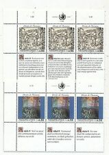 TIMBRE STAMP ZEGEL SUISSE GENEVE NATIONS-UNIES DROITS DE L' HOMME 196-201 XX