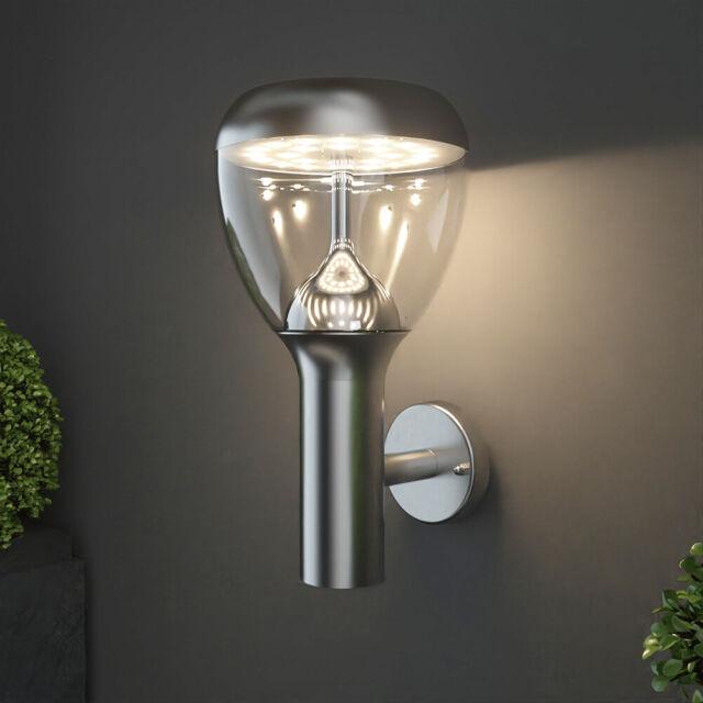 2 Edelstahl Wandlampen Außenbereich Aussenlicht Terrassen Wandleuchte IP44 9W