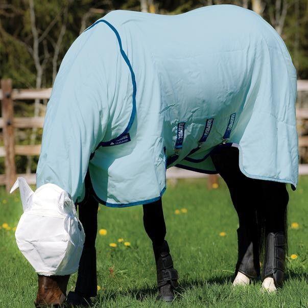 Horseware  Rambo Hoody Vamoose (inkl. Fliegenmaske) - Baby bluee Navy  online fashion shopping