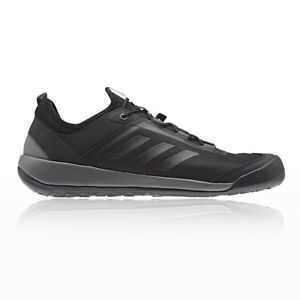 adidas Mens Terrex Swift Solo Walking Shoes Black Blue Sports Outdoors
