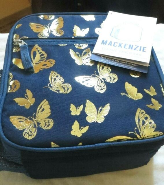 Pottery Barn Butterfly Gold Lunch Box Pack Bag School Girl