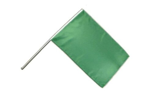 Stockflagge Stockfahne Einfarbig Grün 60x90cm Fahne Flagge mit Stock