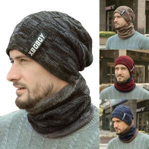 de-laine-epaisse-Chapeau-de-haricot-Bonnet-tricot-Hiver-chaud-echarpe