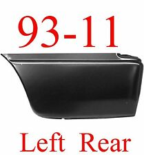 93 11 LEFT Lower Rear Bed Patch, Ford Ranger, 2 Door, Extended Cab, Crew Cab