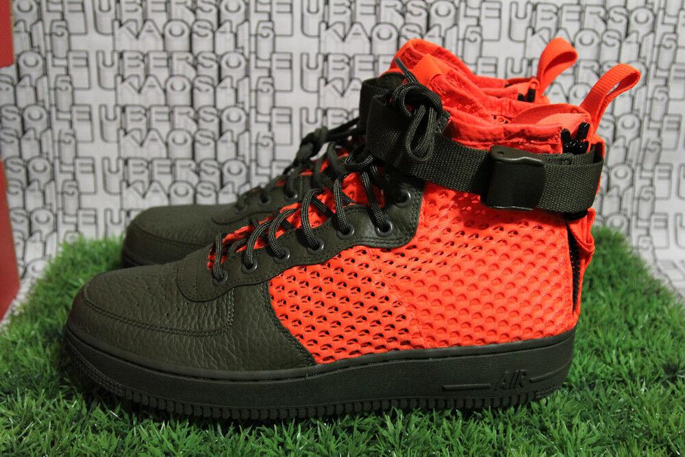 Nike SF AF1 MID QS Cargo Green/Mesh Orange Boot Service SFB AA7345 300 MEN 11