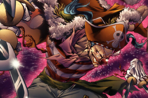 """One Piece Seven Warlords buggy 36/"""" x 24/"""" inches Large Wall Poster Print Fan Art"""