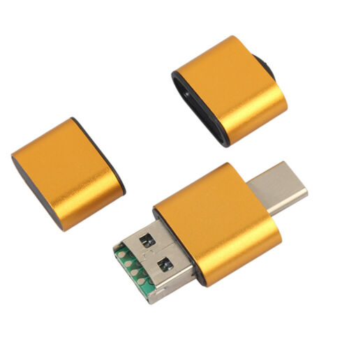 2 in 1 USB 2.0 TF T-Flash Memory Card Reader Type-c OTG Adapter Support 128GB