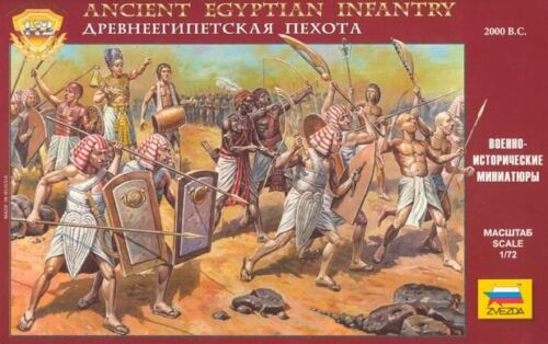 ZVEZDA 1//72-8051 Ancient Egyptian Infantry OUT CATALOG COMPL MADE RUSSIA