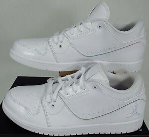differently 91920 210fd New Mens 14 NIKE Air Jordan 1 Flight 2 Low White Leather Shoes $95 ...