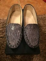 Cole Haan cary Venetian Slip On Shoes Size 5b Blue/white Stripe