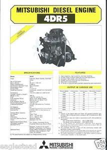 equipment brochure mitsubishi 4dr5 engine power unit farm rh ebay com mitsubishi 4dr5 engine workshop manual 4dr5 engine manual pdf