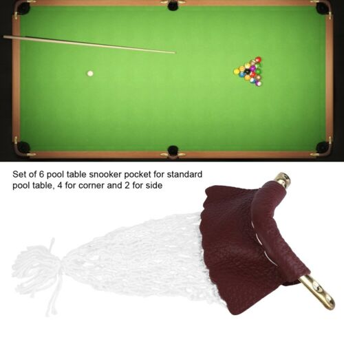 36PCS Pool Snooker Table Billiards Ball Leather Bag Net Pockets Replace UK Local