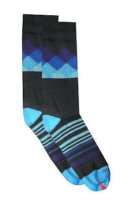 DUCHAMP LONDON Mens Geometric Pattern Socks Navy Blue Grey One Size 7-11 /> BNWT