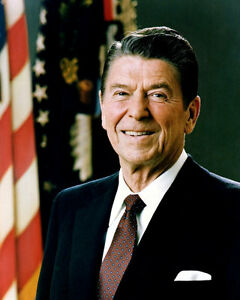40th US President RONALD REAGAN Glossy 8x10 Photo Political Historical Poster
