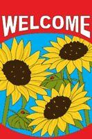2'x3' Welcome Garden Flag Lovely Sunflowers 24x36 2x3