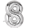 Numbers: 1,2,8,0 40 Inch SILVER Giant Jumbo Helium Foil Mylar Balloons