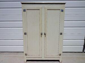 Merveilleux Image Is Loading Cabinet Industrial Vintage Tall Linen Closet  Medical Dental