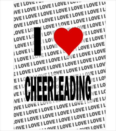 Gift Birthday Stocking Filler A3 Poster I Love Cheerleading
