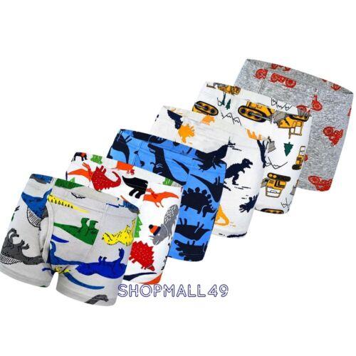 4 Pack Boys Boxer Shorts Cotton Pants School back Kids Underwear Age 3-10 years