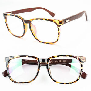 Large Thin Frame Glasses : New Large Oversized Large WOOD Glasses Clear Lens Thin ...