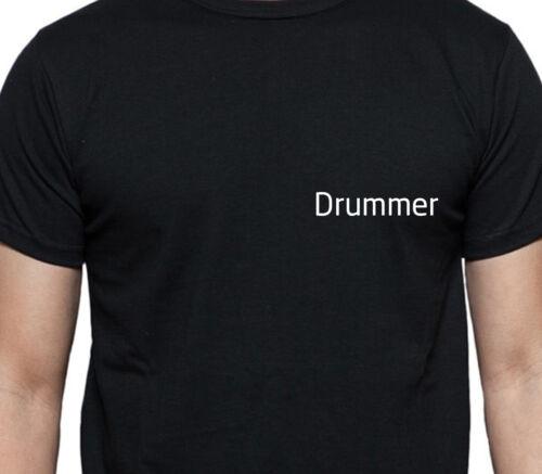 DRUMMER T SHIRT PERSONALISED TEE JOB WORK SHIRT CUSTOM