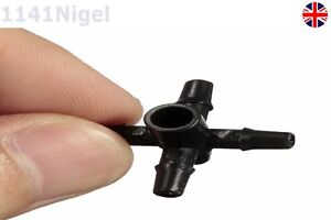 Agricultural Garden Irrigation 5 Way 1/4'' Drip Splitter Connector (Pack of 1-3)