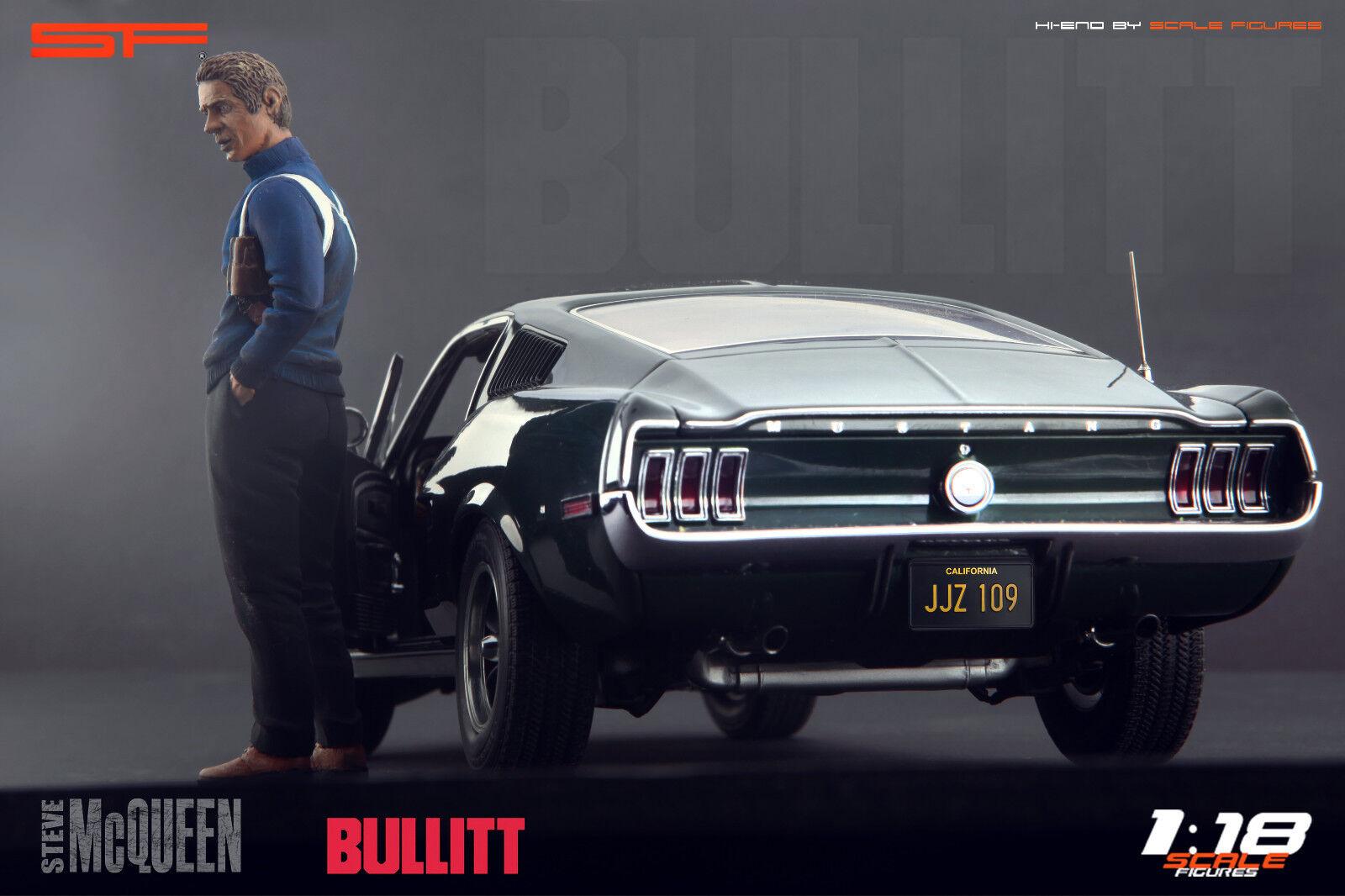 1 18 Steve McQueen Bullitt NO CAR     figurine for 1 18 Autoart Ford Mustang
