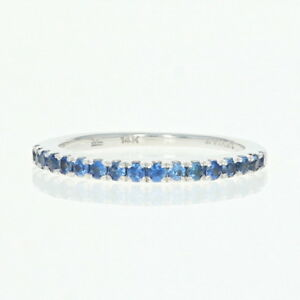 30ctw-Round-Brilliant-Sapphire-Le-Vian-Stackable-Ring-14k-Gold-Wedding-Band