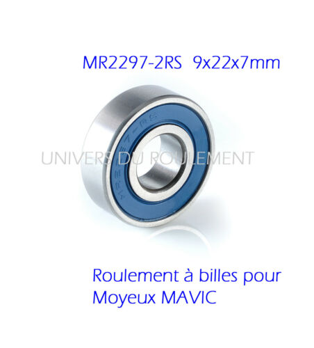 ROULEMENT A BILLES 9X22X7 2297 2RS BEARING RODAMIENTO pour VELO MAVIC 2pcs