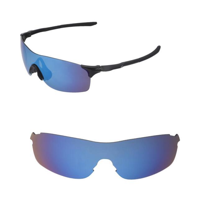 9835b2e9457 Walleva Ice Blue Polarized Replacement Lenses for Oakley Evzero ...