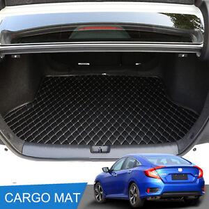 black leather cargo mat rear trunk tray liner for 2016. Black Bedroom Furniture Sets. Home Design Ideas