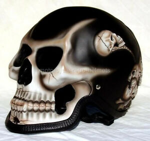 Motorcycle Helmet Skull Skeleton Death Rider Ghost Full Face Airbrush New S-XL