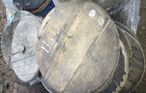 Recycled Solid Wooden Oak Whisky Barrel Ends Rustic pack of 5 Lid Vintage tray
