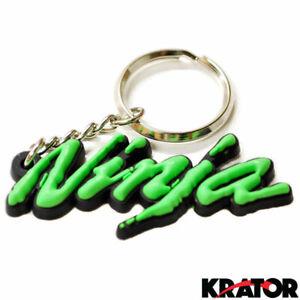 Green Soft Rubber Motorbike Key Ring Keychain For Kawasaki Ninja ZX-14R New