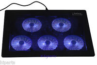 5 Fan Led 11 - 17  Gaming Laptop Notebook Cooling Pad Cooler Stand Chill Mat