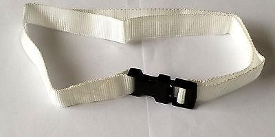 """Bambino Bianco 25 Mm Polipropilene Cintura Sgancio Rapido Fibbia Età 4-7 (tl24 """")-mostra Il Titolo Originale Materiali Di Alta Qualità"""