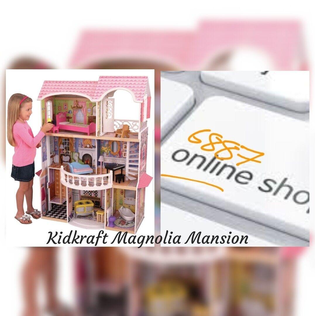 Kidkraft Magnolia Mansion Casa di Bambole in Legno-Scatola Nuovo Di Zecca. 3 livelli.