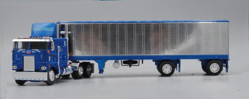 1 64 1st Gear DCP 60-0618 Peterbilt 352 con 40 van-Western distribuir
