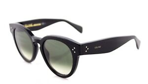 56c63da690aa Image is loading RARE-Genuine-CELINE-THIN-PREPPY-Ladies-Black-Green-