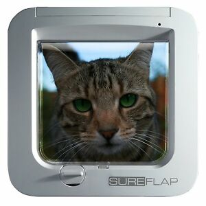 SureFlap Microchip Cat Door No Collar or Tag Required White/Brown Battery Power