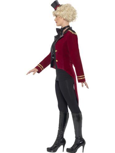 Ladies Ringmaster Costume Circus Lion Tamer Fancy Dress Outfit New UK 8-18