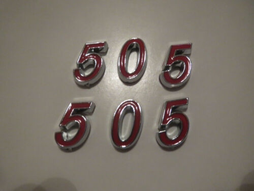 GM 505 HOOD SCOOP FENDER TRUNK ENGINE ID EMBLEMS SET RED
