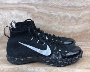 f2641a3c0ed Nike Alpha Sensory Turf Training Football Shoes Black White Flyknit ...