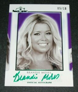 Brandie Moses 2018 Bench Warmer Hot For Teacher Yearbook Autograph Auto Non-sport Trading Cards Benchwarmer