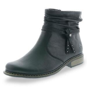 Details zu Rieker Damen klassische Stiefeletten Herbststiefeletten Boots Schuhe schwarz